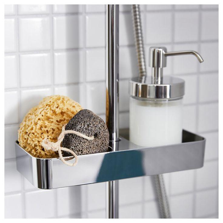 IKEA BROGRUND Shower shelf chrome plated Duschablage