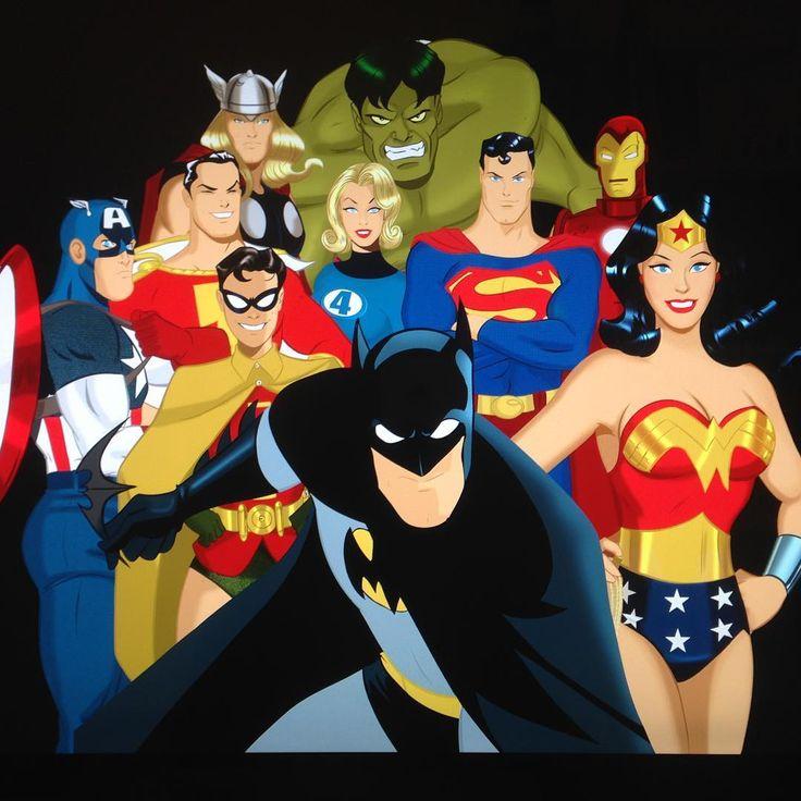 Des Taylor- DC and Marvel Superheroes together