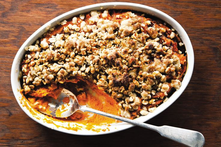 """""""In a Southern family, there's always someone who makes one dish, one thing they're truly great at,"""" says Tandy Wilson of City House, in Nashville, Tennessee. """"These recipes tend to be 'talked,' passed down from cook to cook."""" That's the case with the chef's favorite sweet potato casserole, a dish inherited from his grandmother. Instead of the standard marshmallow topping, the recipe uses sorghum syrup for a rich, deep sweetness, and chopped roasted..."""