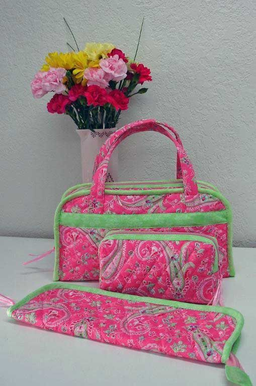 Quilted Sewing & Travel Organizer Bags