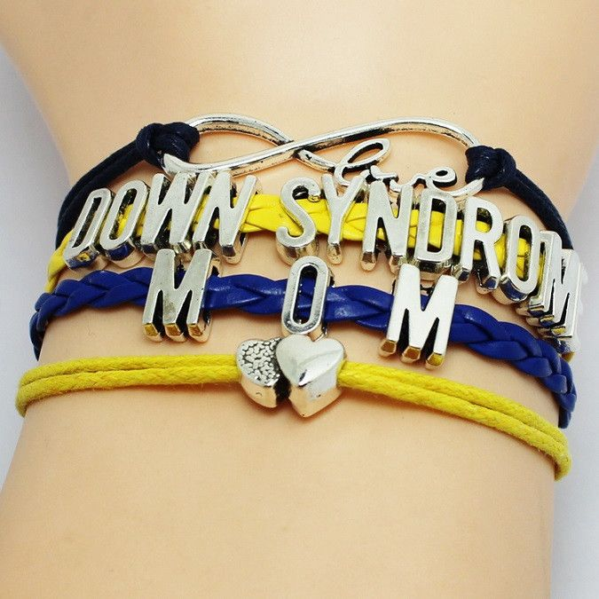 Mom Love Down Syndrome Awareness Bracelet