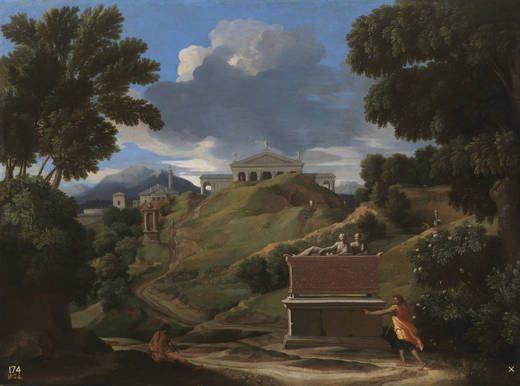 Nicolas Poussin - Landscape with Ruins (c.1634), Museo Nacional del Prado…