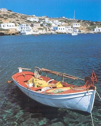 Alopronia is the port of Sikinos island, Greece - selected by www.oiamansion.com