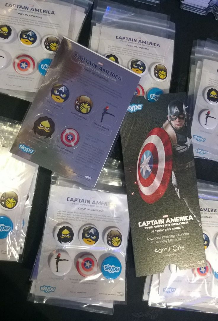 Skype hidden emoticons captain america - Some Of Our Skype Swag Featuring Our Limited Edition Captain America Emoticons At An