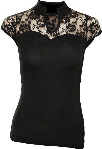 """Shirt """"Kim"""" schwarz Größe 5 (XXL)   http://xxl.damenfashion.net/shop/shirt-kim-schwarz-groesse-5-xxl/"""