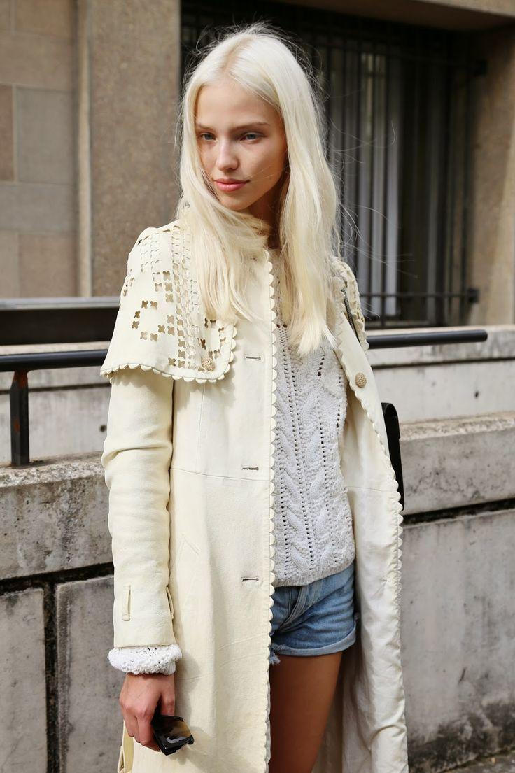 blissfully-chic:  Street style - Sasha Luss