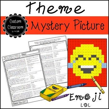 This activity includes 10 short book excerpts and 10 theme multiple choice questions students have to solve to discover a surprise picture. Once students answer the question they will then color all the numbers on their mystery picture page based on their answer choice.