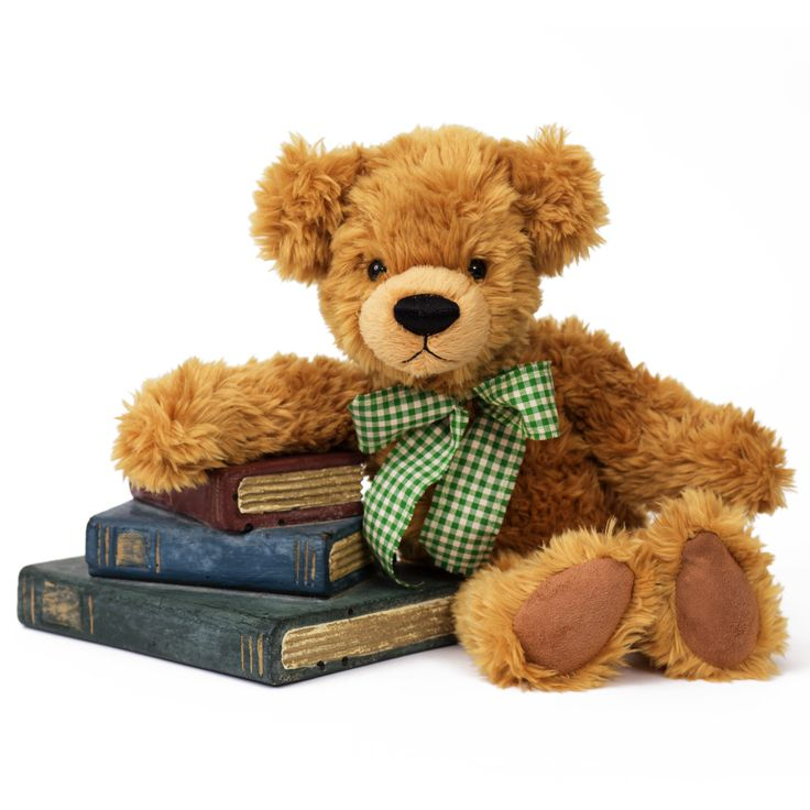 Honey Bear Gold 88.500.035 Honey Bear is made from the finest superior soft plush and is soft and floppy making him the ideal companion for young children to cuddle and comfort. He stands at 35 centimeters tall and has the finest stitched nose and mouth that adds character and uniqueness to this authentic teddy bear. His soft paws are made from felt, making them a nice combination with the soft plush fur of the bear. Honey Bear arrives with an elegant checkered bow around his neck.