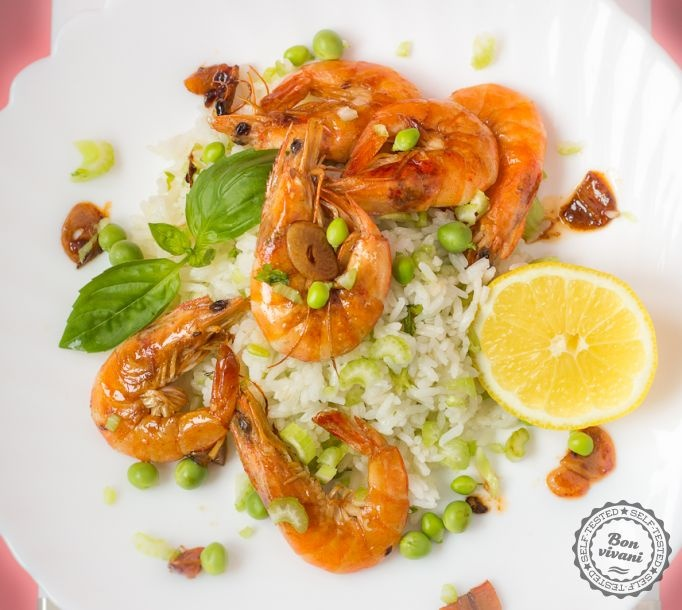 Krevety so zelenou ryžou • bonvivani.sk