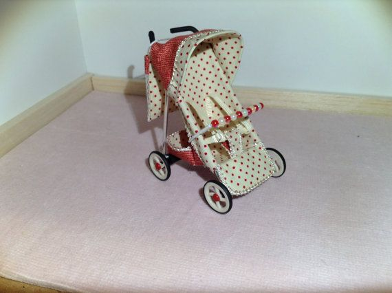 AVAILABLE NOW 1/12th scale modern red and cream by thimblemins, £40.00