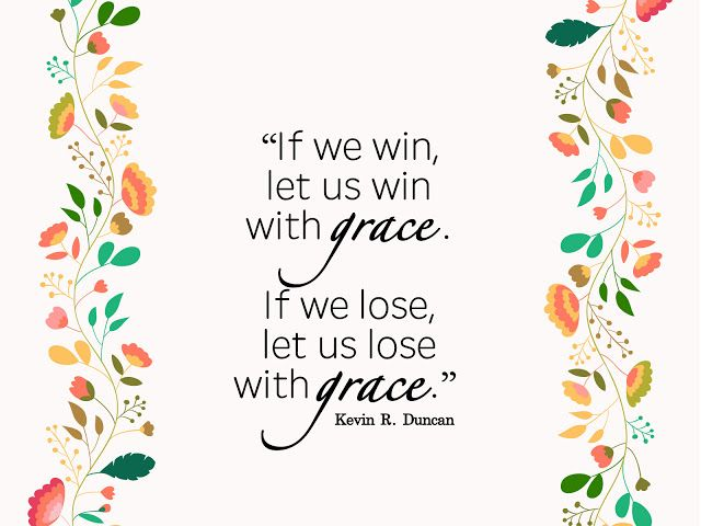 """""""In the competitions of life, if we win, let us win with grace. If we lose, let us lose with grace. For if we live with grace toward one another, grace shall be our reward at the last day."""" From #ElderDuncan's inspiring #LDSconf http://facebook.com/223271487682878 message http://lds.org/general-conference/2016/04/the-healing-ointment-of-forgiveness #LDS #Mormon #Grace #Love #Forgiveness #Christian #Discipleship #ShareGoodness"""