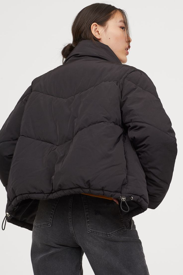 black puffer jacket women