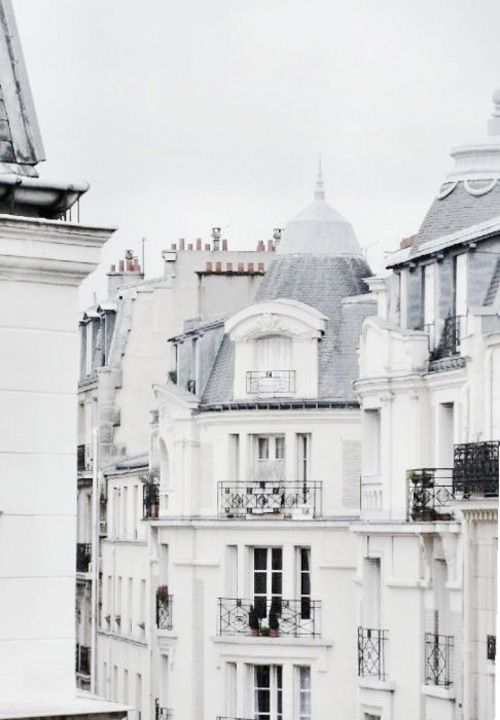 home paris rooftops white+architecture travel+inspo clean+lines wanderlust