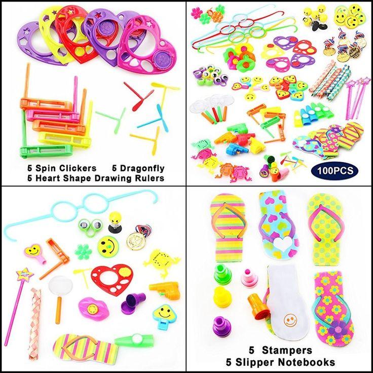 100 Pcs Treasure Box Pinata Filler Carnival Prizes Toy Party Favors for Kids #AmyBenton