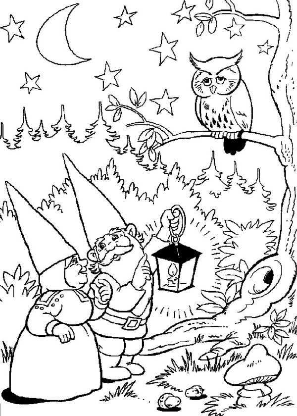 coloring page david the gnome david the gnome
