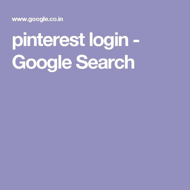 pinterest login - Google Search
