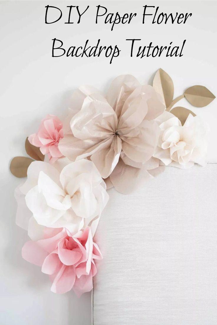 Tissue Paper Flower Wall Decor Paper Flower Backdrop Wedding