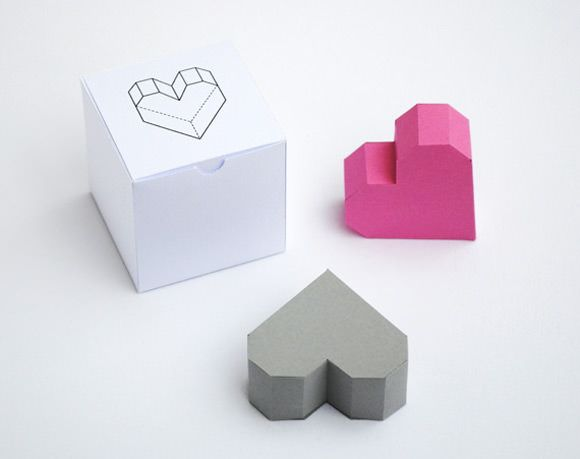DIY Geometric Heart Box by Mini-eco