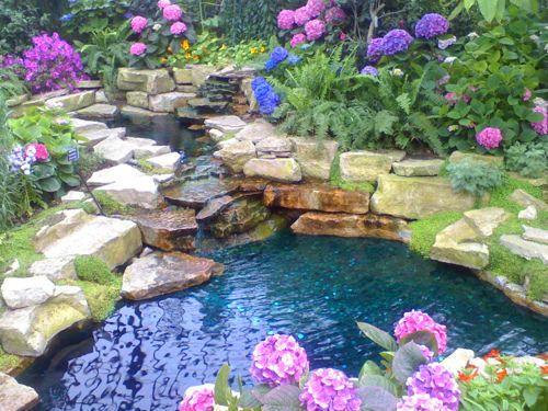 107 besten wasser im garten Bilder auf Pinterest Landschaftsbau - bilder gartenteiche mit bachlauf