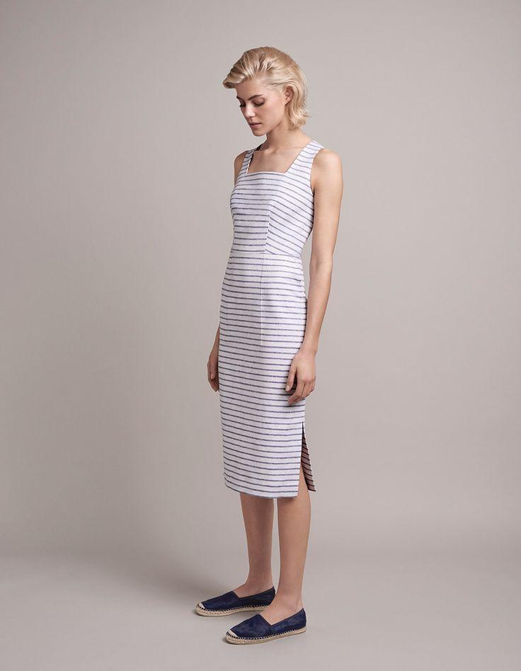 Stripe Linen Dress | Jigsaw Spring 2015