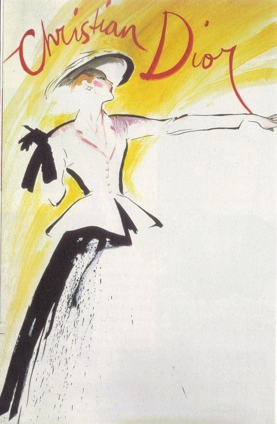 Will forever be one of my favorite illustrations. 1947 - Dior's New Look by Gruau.