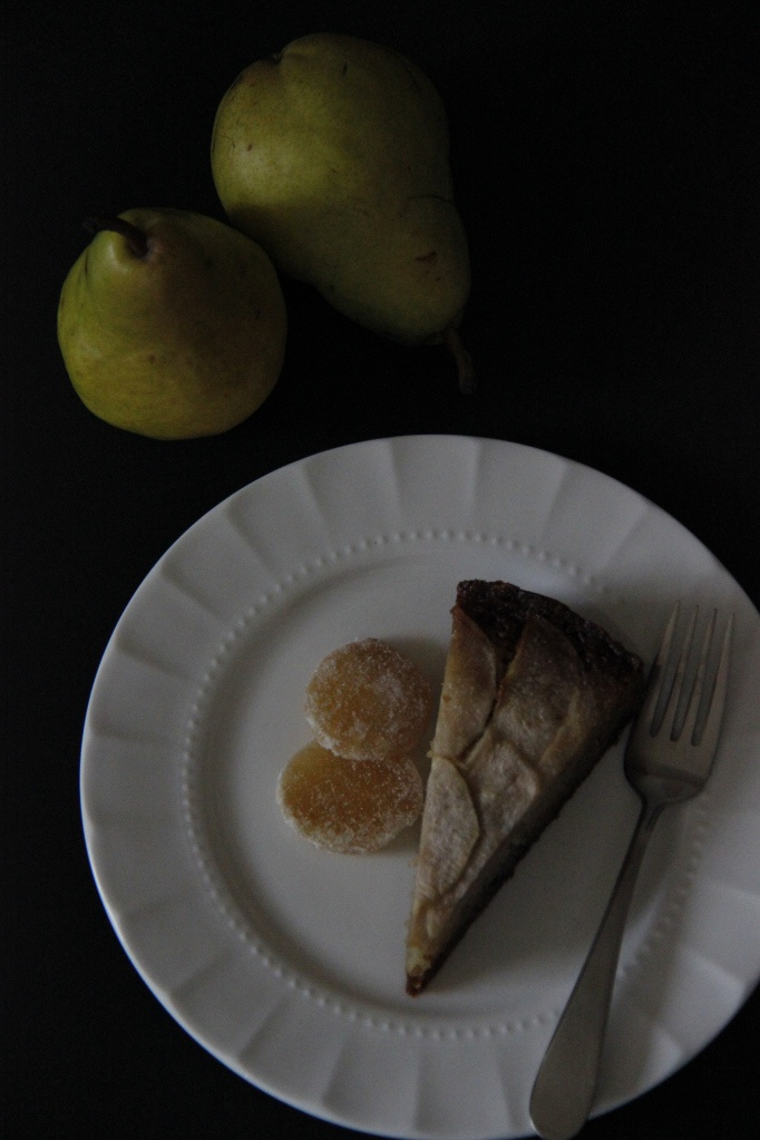 Caramelized Pear and Ginger Cake