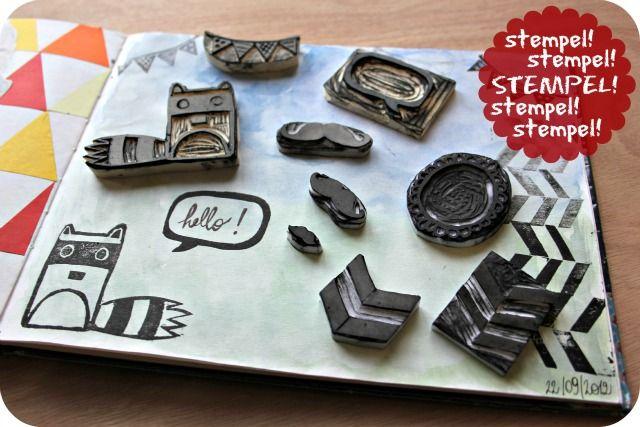 Handgemaakte stempels op blog Plutomeisje