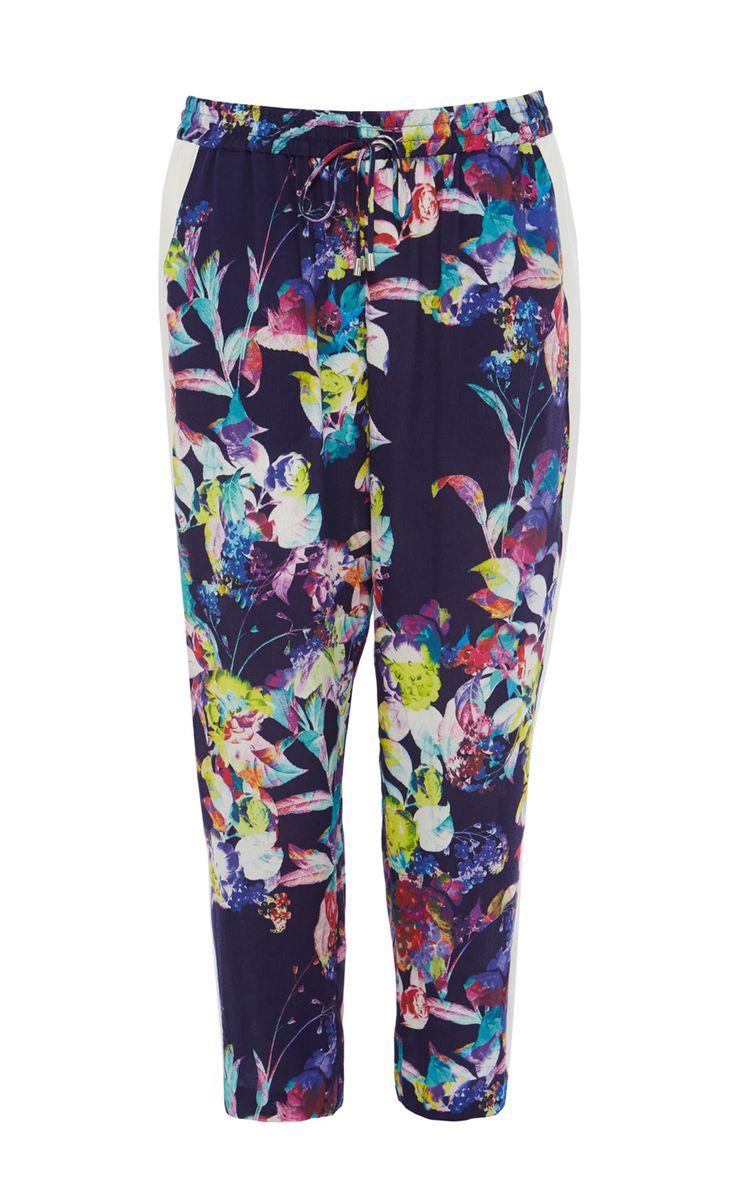 Картинки по запросу брюки с цветочным принтом