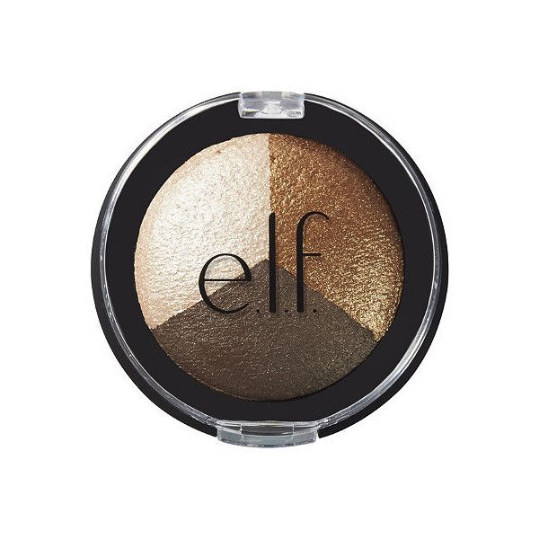 e.l.f. Cosmetics Online Only Baked Eyeshadow Trio ($50) ❤ liked on Polyvore featuring beauty products, makeup, eye makeup and eyeshadow