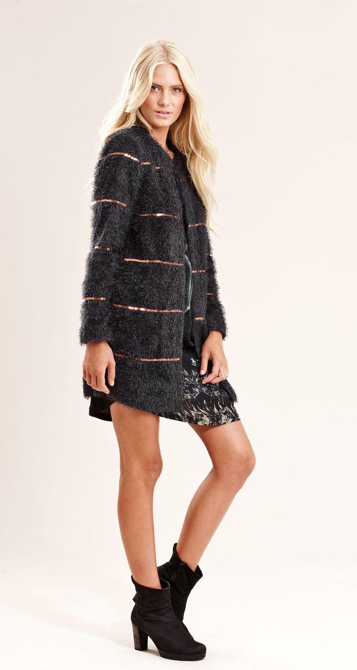 Vivienne coat - Charcoal - Provrummet.se