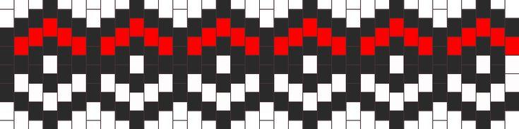 PokeBall Bracelet  bead pattern