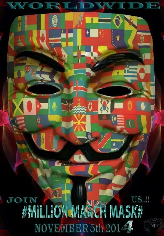 Anonymous Flag Mask