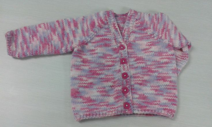 Sirdar early arrivals book 348. Design A in double knit. Knitted without the seed stitch pattern as the yarn is so busy.