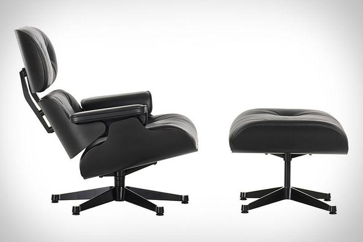 Eames Black Ash Lounge Chair & Ottoman