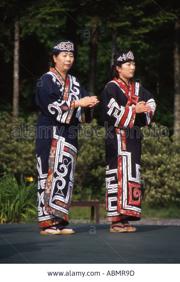 Download this stock image: Ainu women The Ainu are Hokkaido s aboriginal people - ABMR9D from Alamy's library of millions of high resolution stock photos, illustrations and vectors.