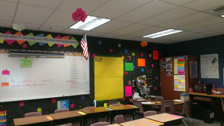 Classroom Decoration Ideas Middle School ~ Middle school neon decoration classroom displays