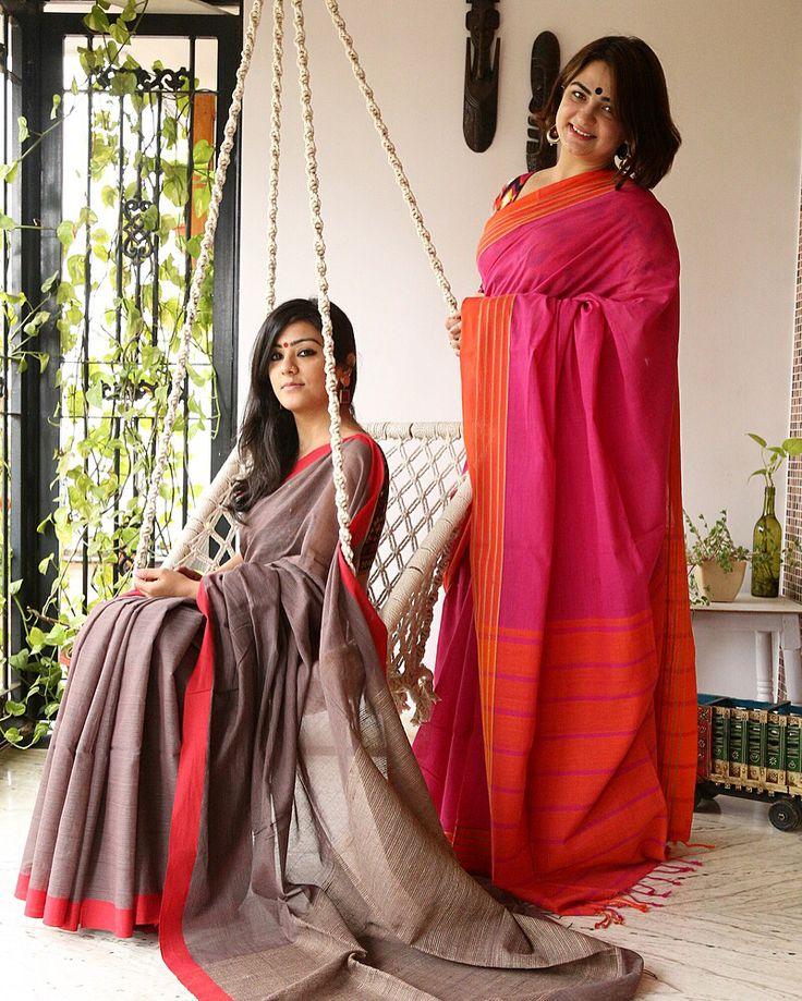 Handloom Cotton Woven Saris!!!