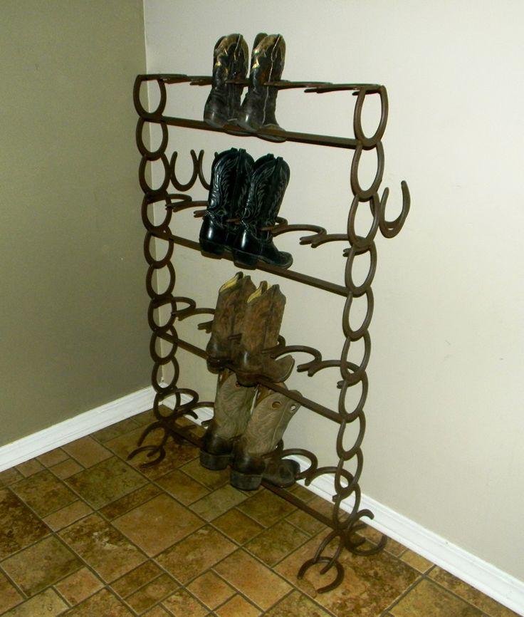 best 25 horseshoe boot rack ideas on welding