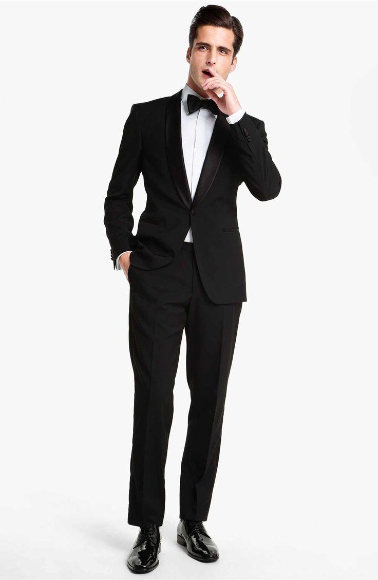 Main Image - BOSS 'Sky Gala' Shawl Lapel Tuxedo (Free Next Day Shipping)