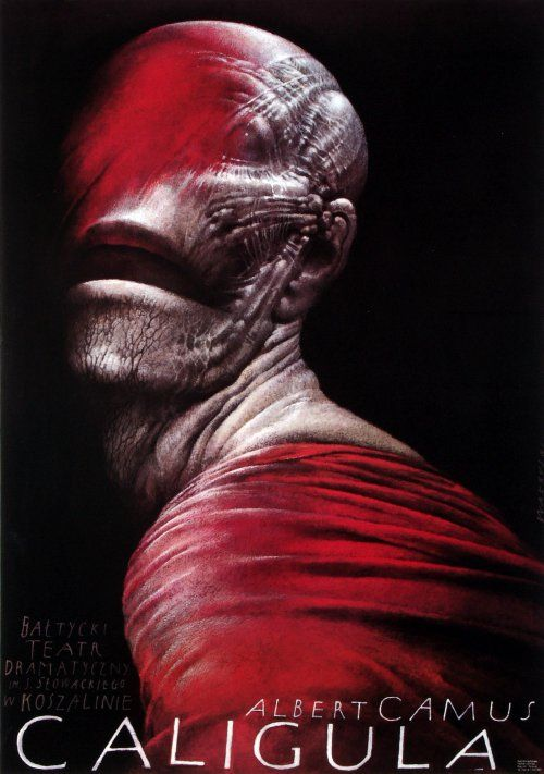 Caligula, Albert Camus, Polish Theater Poster