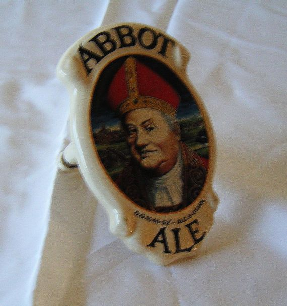 Greene King Abbot Ale Ceramic pump badge/clip by DutchTrader, £8.00