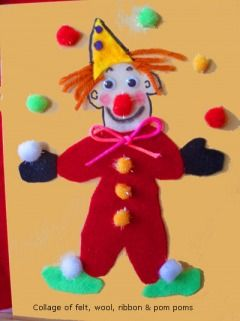 Carnival crafts - animal cracker magnets, felt clowns