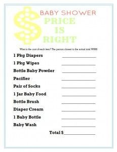Free Printable Baby Shower Checklist | involves candy? Yes, you read that right! This Candy Bar Baby Shower ...