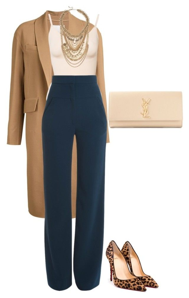 """Untitled #230"" by amoney-1 ❤ liked on Polyvore featuring Alexander Wang, Cushnie Et Ochs, Christian Louboutin, Yves Saint Laurent and LULUS"