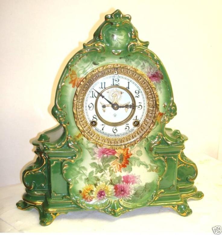 Ansonia Royal Bonn La Manche Porcelain Mantel Clock | eBay