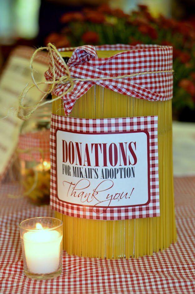 donation jar spaghetti dinner fundraiser pinterest fundraising