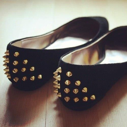 STUDDED FLATS! I can see these being dangerous at parties...