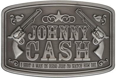 Click for Full Size Image of Johnny Cash, Belt Buckle, Shot a Man In Reno