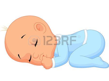 Erkek bebek karikatür uyku. Stok Fotoğraf - 27166202