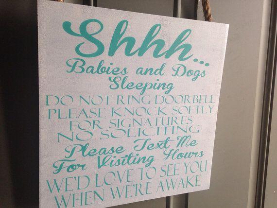 New Shhh Do Not Disturb Baby Sleeping Please Don T Knock